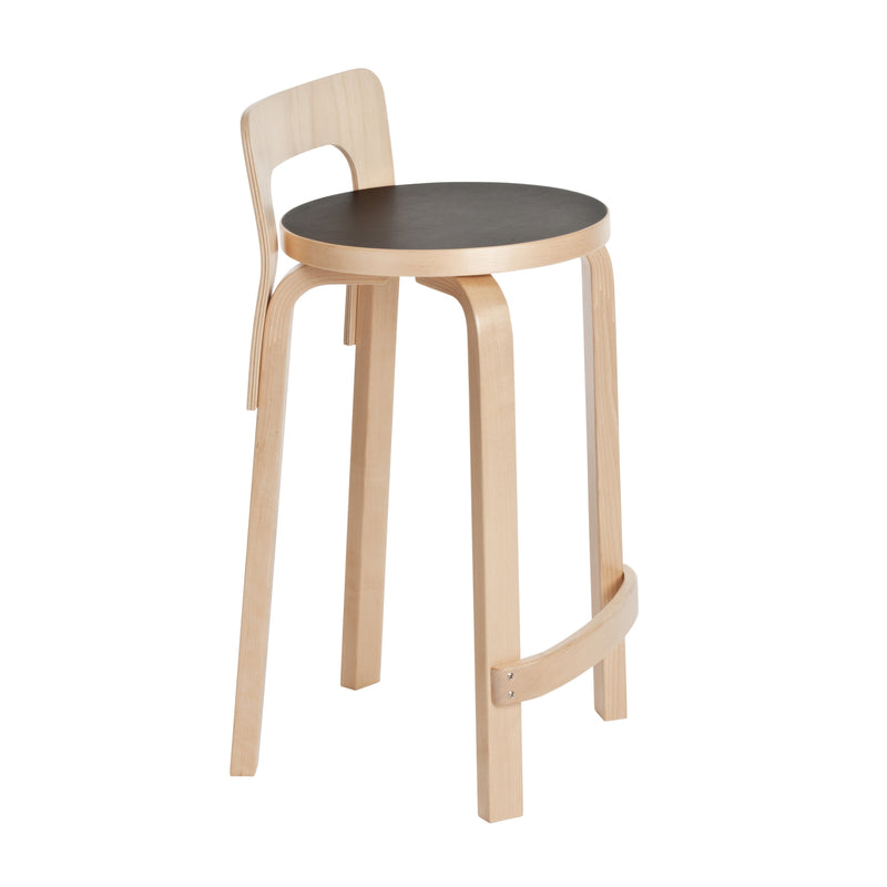 Artek, K65 High Chair Linoleum Black, - Placewares