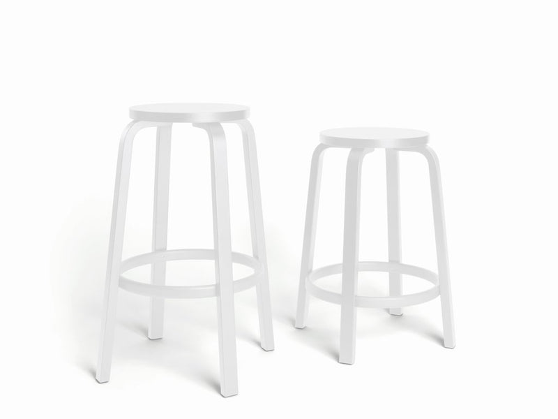 Artek, Bar Stool 64 All-White, Counter-Height, - Placewares