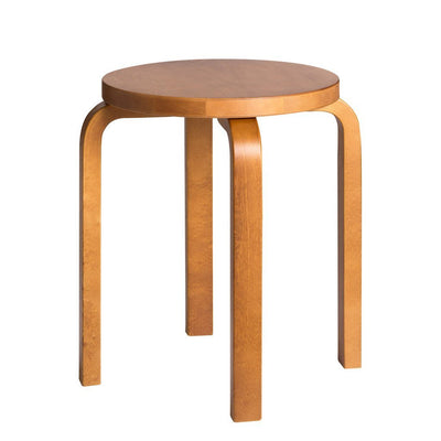 Artek, Stool E60 Stool - Honey Stained Seat & Legs, Legs honey stained - seat honey stained- Placewares