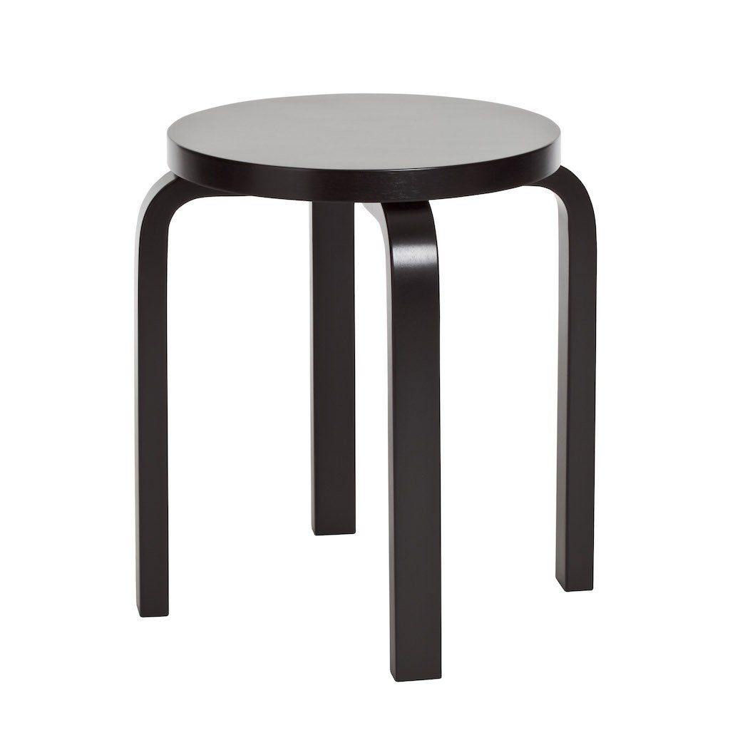 Artek, E60 Stool Lacquered All-Black, - Placewares