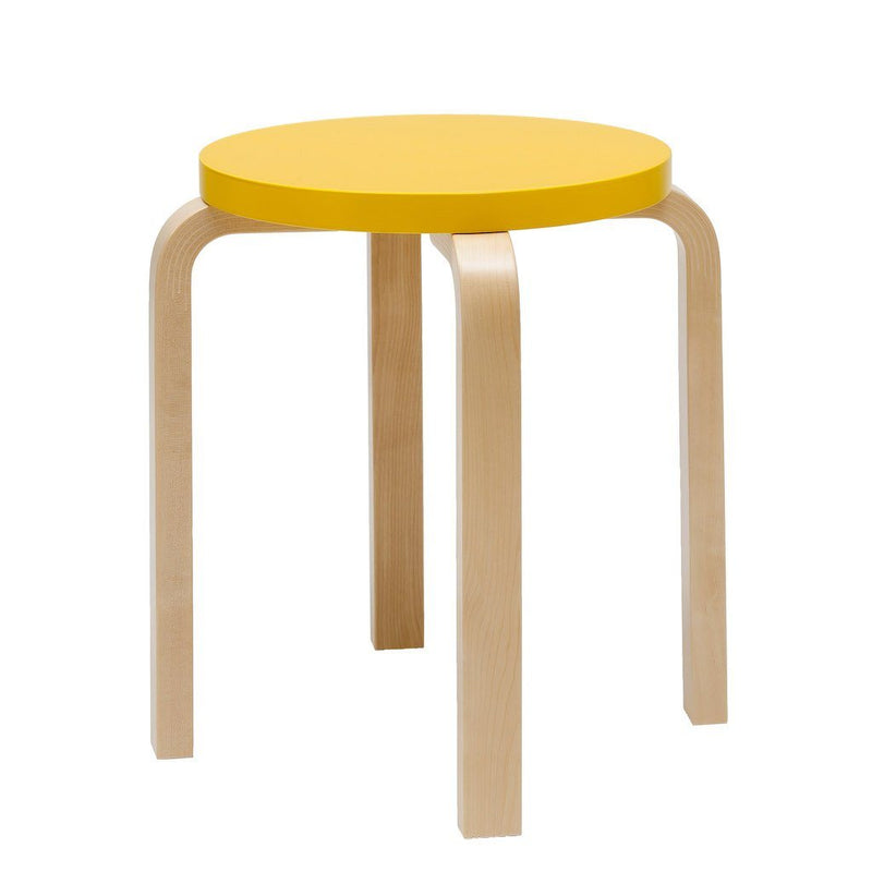 Artek, E60 Stool Lacquered Yellow Seat, - Placewares