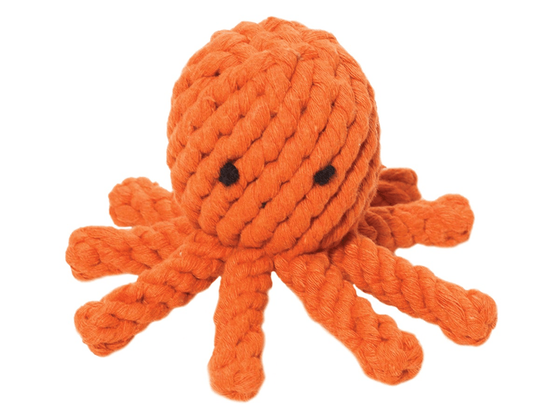 Jax & Bones, Elton the Octopus Dog Rope Toy, Small- Placewares