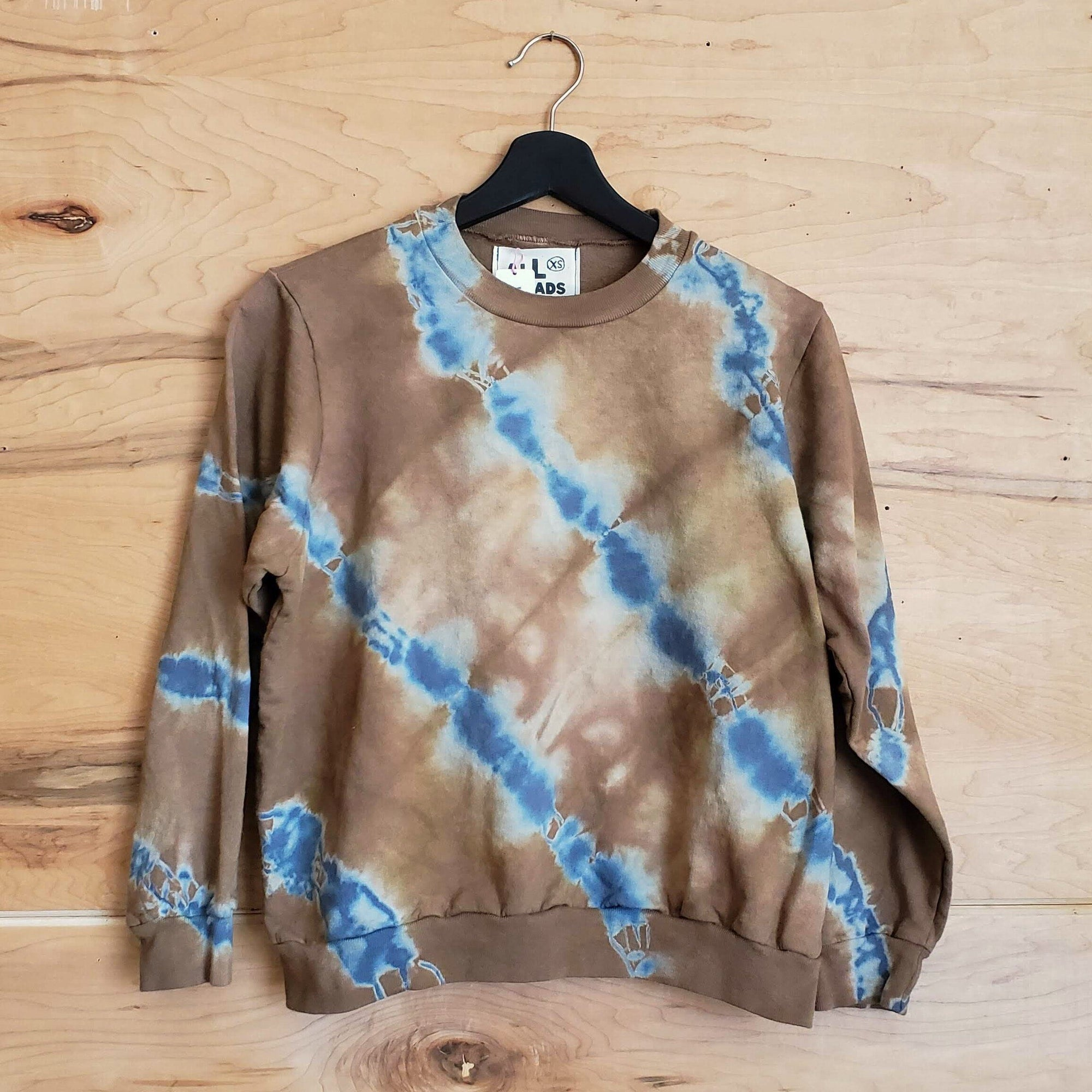 ALL ROADS, All Roads Mojave Sands Shibori Sweatshirt, - Placewares