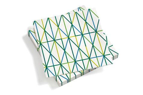 Vitra, Paper Napkins, large Grid, green, - Placewares