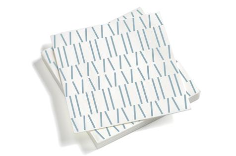 Vitra, Paper Napkins, large Broken Lines, gray blue, - Placewares