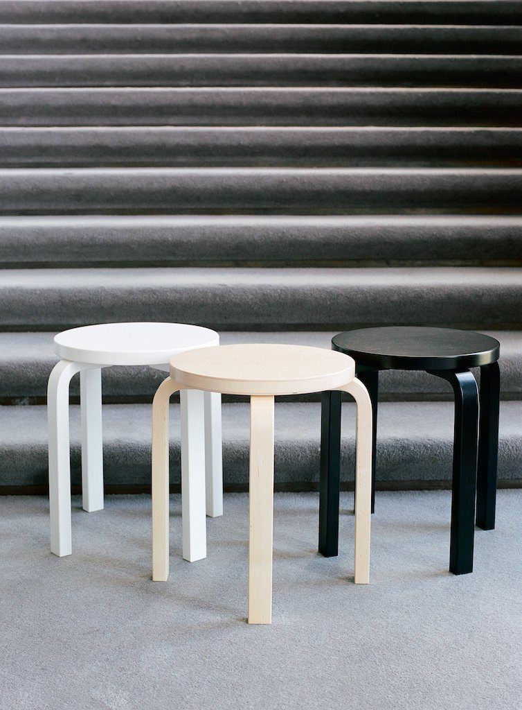 Artek, E60 Stool Lacquered All-White, - Placewares