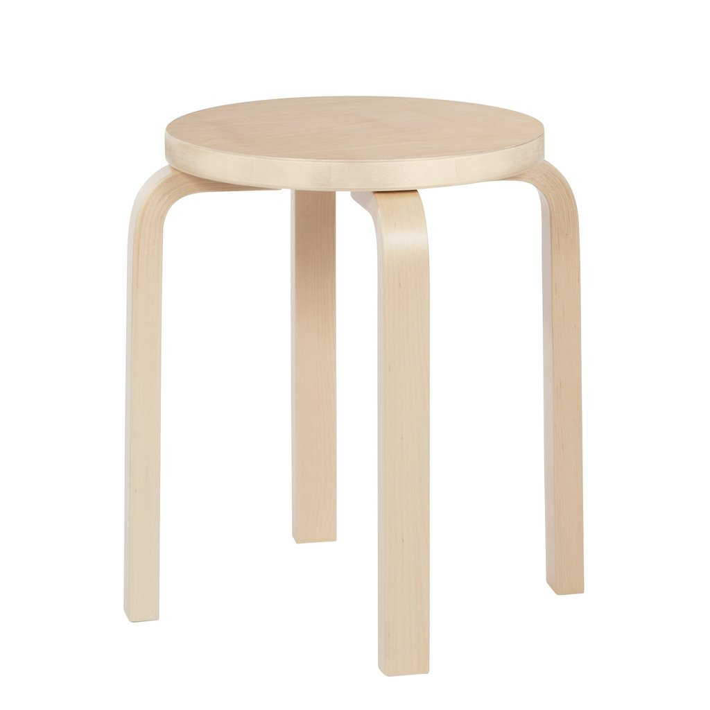 Artek, E60 Stool Birch Veneer, - Placewares