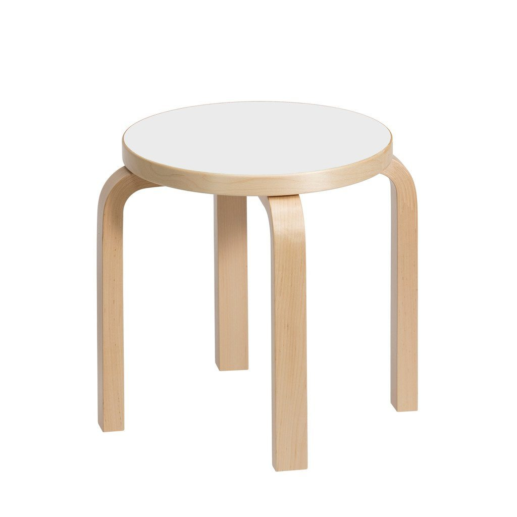 Artek, Stool NE60 Laminate White, - Placewares