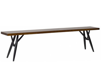 "Artek, Pirkka Bench, assorted sizes, 3-4 Seater - L 70 ¾"" / Frame black stained - seat brown stained- Placewares"