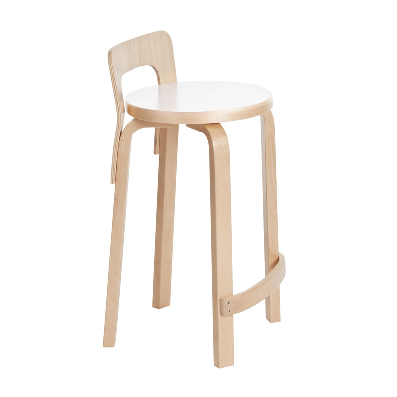 Artek, K65 High Chair Laminate White, - Placewares
