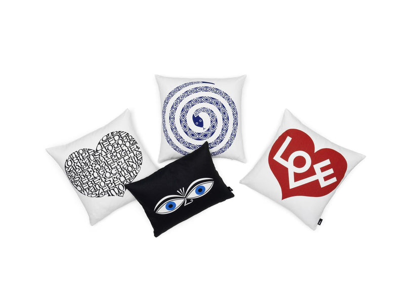 Vitra, Snake Graphic Print Pillow, Ultramarine, - Placewares