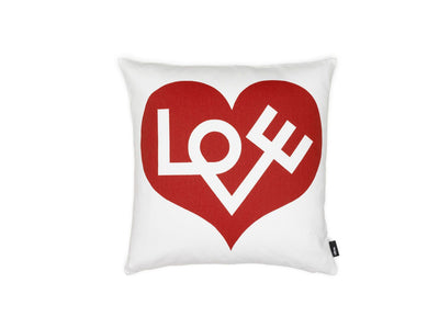 Vitra, Love Graphic Print Pillow, Crimson, - Placewares