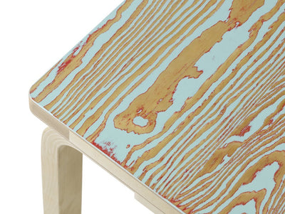 Artek, Bench 153B - Seat Red/Turquoise ColoRing, Legs Natural Lacquered, - Placewares