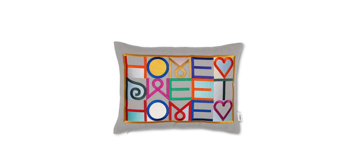 Vitra, Home Sweet Home, Embroidered Pillow, - Placewares