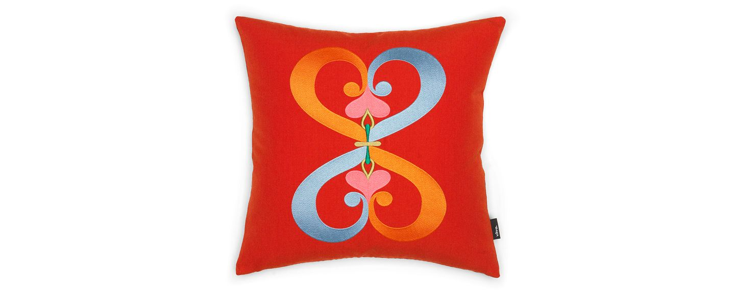 Vitra, Double Heart, red, Embroidered Pillow, - Placewares