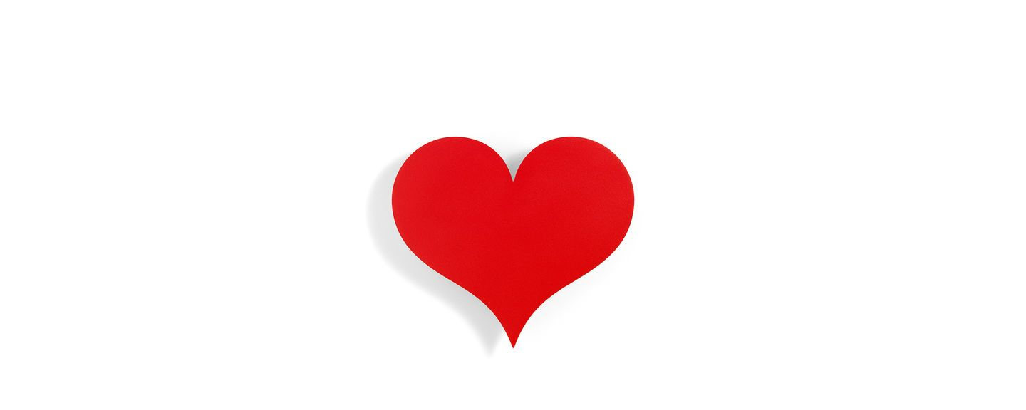 Vitra, Little Heart, Red Metal Wall Relief, - Placewares