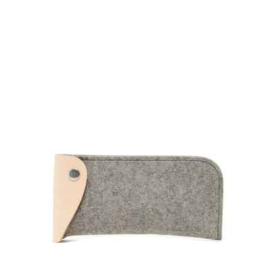Graf Lantz, Felt & Leather Eyeglass Sleeve, Granite- Placewares