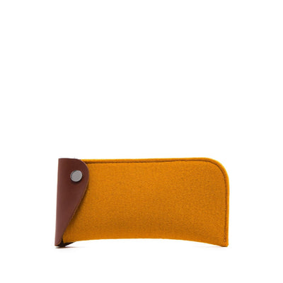 Graf Lantz, Felt & Leather Eyeglass Sleeve, Turmeric- Placewares