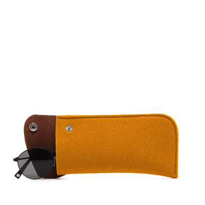 Graf Lantz, Felt & Leather Eyeglass Sleeve, - Placewares