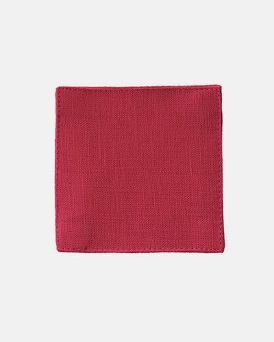 Fog Linen, Linen Coasters, poppy red, - Placewares