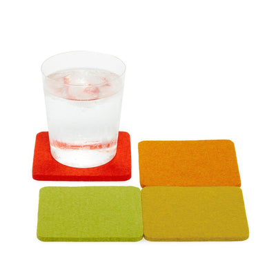 Graf Lantz, Bierfilzl Square Multi Color Felt Coasters, 4-pack, Sunburst- Placewares