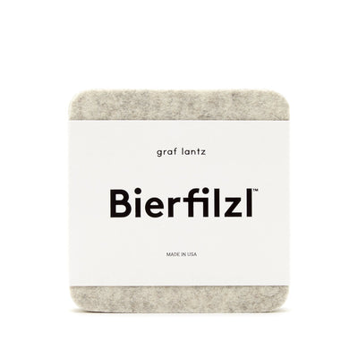 Graf & Lantz, Bierfilzl Square Felt Coasters, Heathered White- Placewares