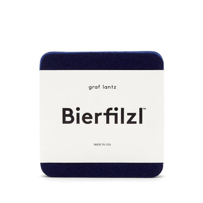 Graf Lantz, Bierfilzl Square Multi Color Felt Coasters, 4-pack, - Placewares