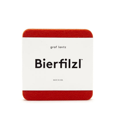 Graf & Lantz, Bierfilzl Square Felt Coasters, Orange- Placewares
