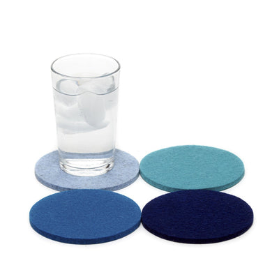 Graf Lantz, Bierfilzl Square Multi Color Felt Coasters, 4-pack, Ocean- Placewares