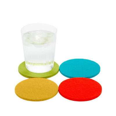 Graf Lantz, Bierfilzl Round Multi Color Felt Coasters, 4-pack, Palm Springs- Placewares