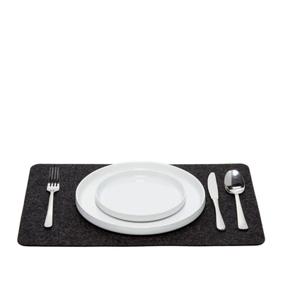 Graf Lantz, Felt Rectangle Placemats, Charcoal- Placewares
