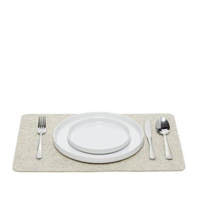 Graf Lantz, Felt Rectangle Placemats, Heathered White- Placewares