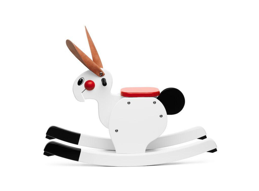 PlaySam, Rocking Rabbit, White- Placewares