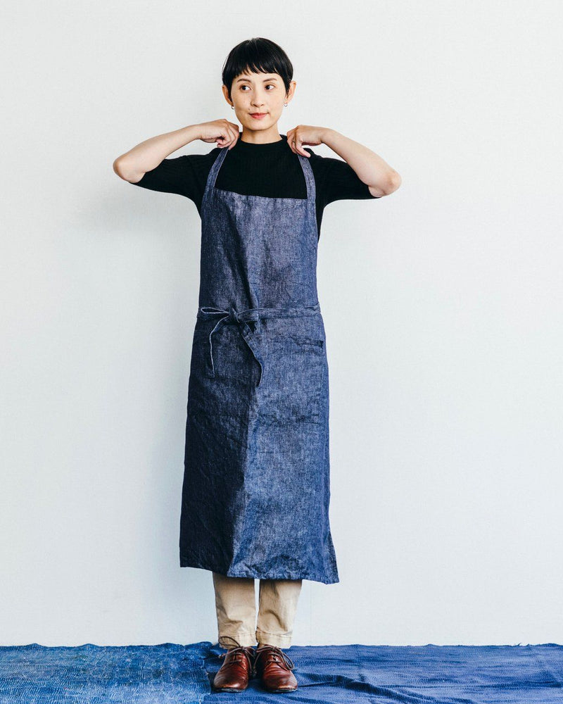 Fog Linen, Atelier Denim Apron, Denim Navy- Placewares