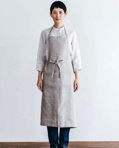 Fog Linen, Linen Full Apron, Natural- Placewares