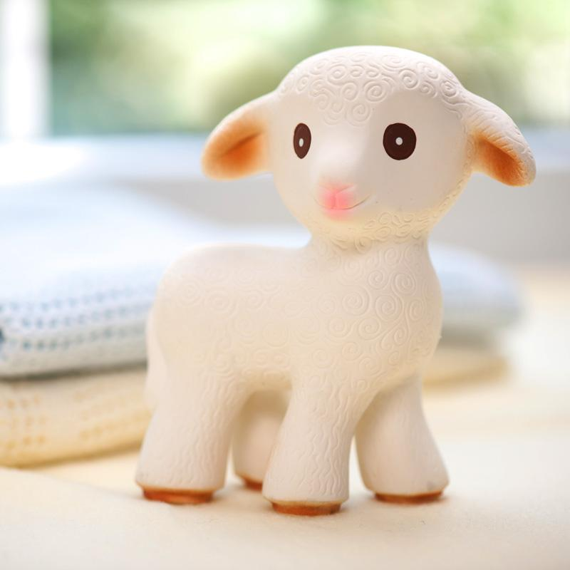 CaaOcho, Mia the Lamb, Natural Rubber Teething Toy, - Placewares