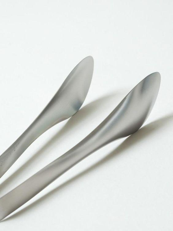 Sori Yanagi, Solid Stainless Steel Tongs, - Placewares