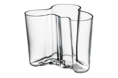 Iittala, Alvar Aalto Collection Vase, 4.75 in - multiple colors, Clear- Placewares
