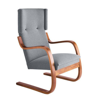 Artek, Copy of Armchair 401 Alvar Aalto, Frame: birch, walnut stain Seat, front and back: fabric upholstery, kvadrat tonus 4 / 216 / Walnut Stained- Placewares