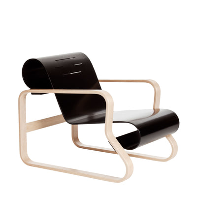 Artek, Armchair 41 Paimio, Frame natural lacquered - seat shell black lacquered- Placewares