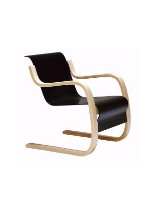 Artek, Armchair 42, Frame natural lacquered - seat shell black lacquered- Placewares