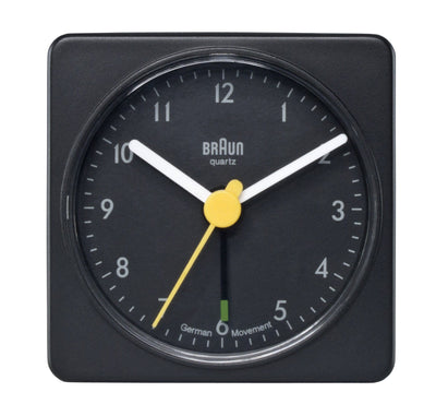 Braun, Braun Large Classic Alarm Clock Square - multiple colors, Black- Placewares