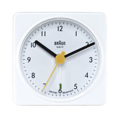 Braun, Braun Large Classic Alarm Clock Square - multiple colors, White- Placewares