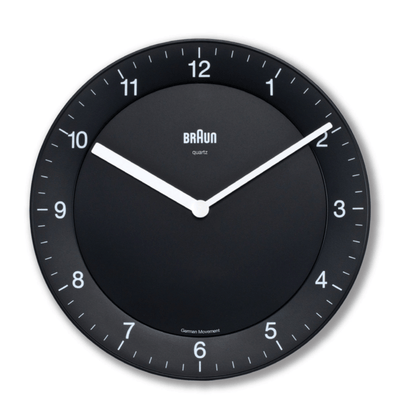 Braun, Braun Wall Clock, Black- Placewares