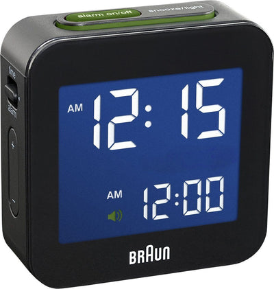 Braun, Braun Digital Alarm Clock - Radio Controlled, Black- Placewares