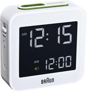 Braun, Braun Digital Alarm Clock - multiple colors, White- Placewares