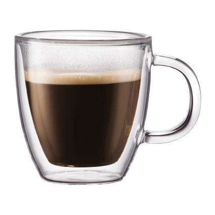 Bodum, Bistro double wall glasses, 2/set - multiple sizes, 5 oz, espresso- Placewares