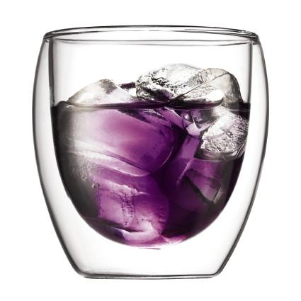 Bodum, Pavina double wall glasses, 2 pieces, 2.5 oz.- Placewares