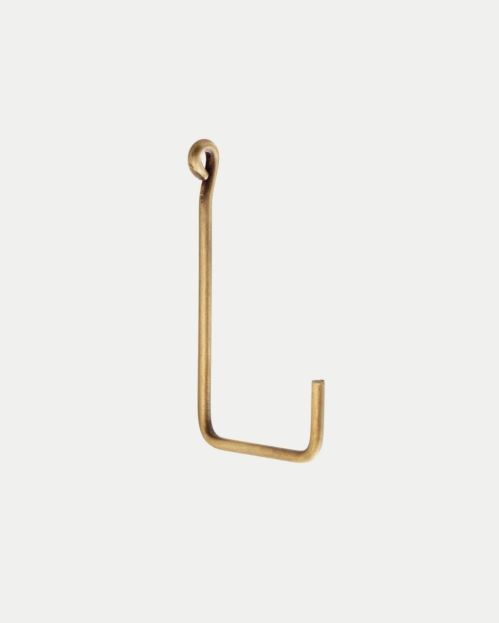 Fog Linen, Handmade Brass Single Hooks, Medium- Placewares