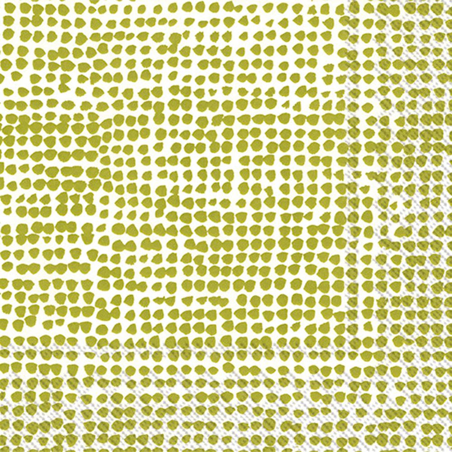 Marimekko, Marimekko - Orkanen White/Green Cocktail Napkins, - Placewares